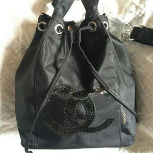 Chanel Precision Bucket Shoulder Bag Silver